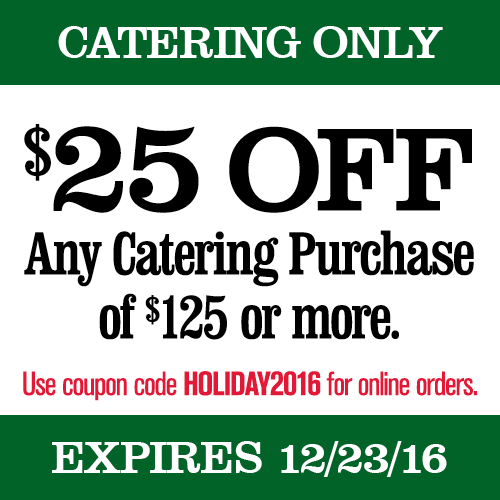 Printable Catering Coupon